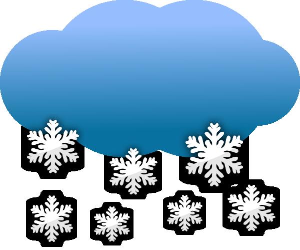 Snow Clouds clip art - vector clip art online, royalty free ...
