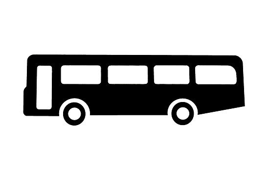 """bus or coach sign as clipart"""" by naturaldigital 