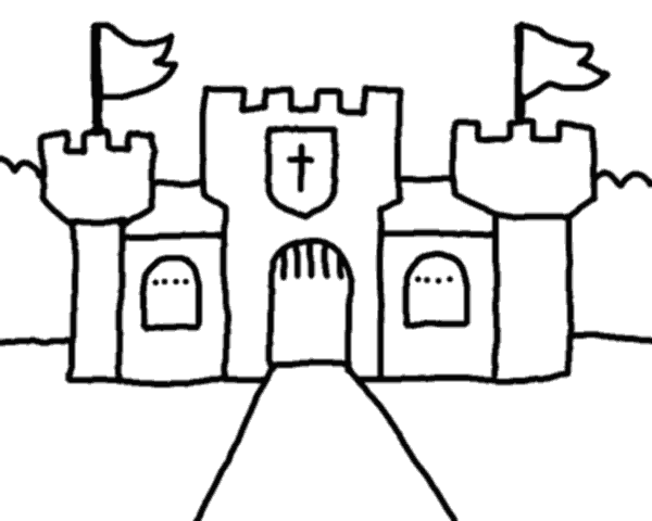 Line Drawing Ks1 : Castle outline cliparts