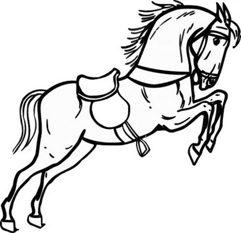 Jumping Horse Outline Clip Art 2 | Free Vector Download - Graphics ...