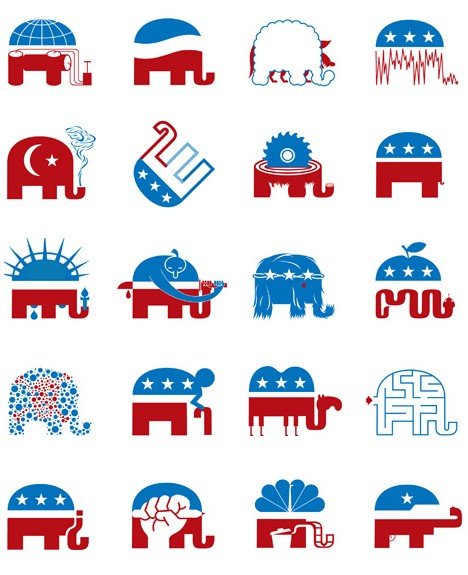 Political Animal: The Ever-Evolving Republican Elephant Logo ...
