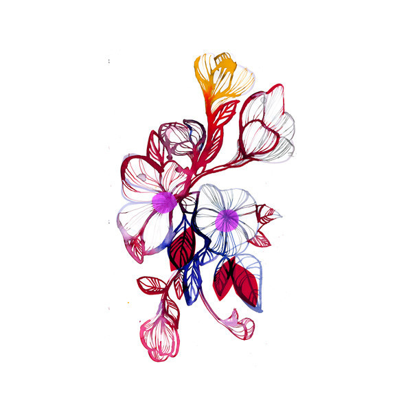 Tattly™ Designy Temporary Tattoos. — Floral Flourish
