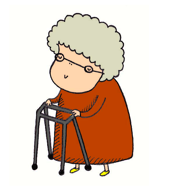 Granny with zimmer frame has 3sum 10