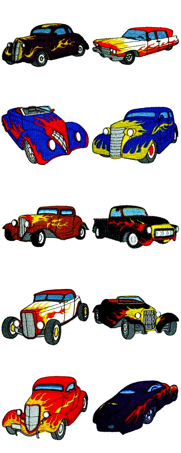 Hot Rod Embroidery Designs