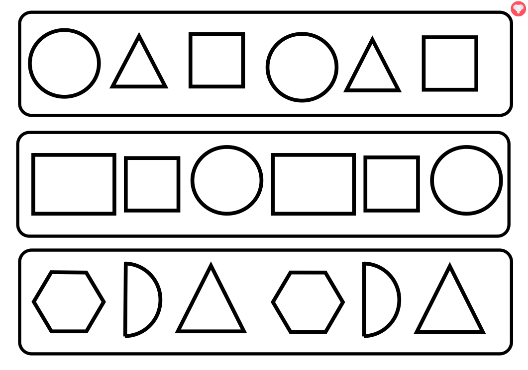 Shapes clip art black and white for Black and white shapes
