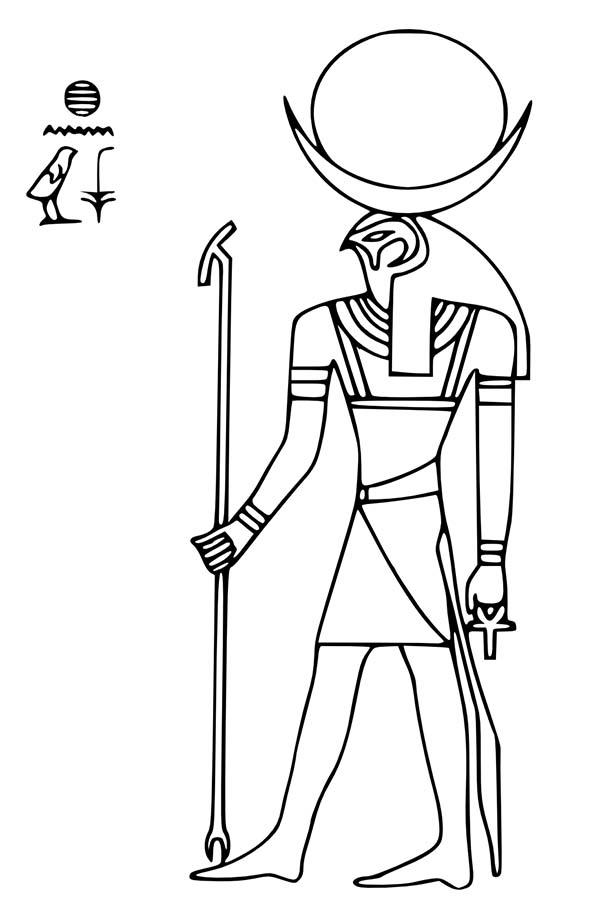 Ancient Egypt Sun God Ra Coloring Page Free Amp Printable