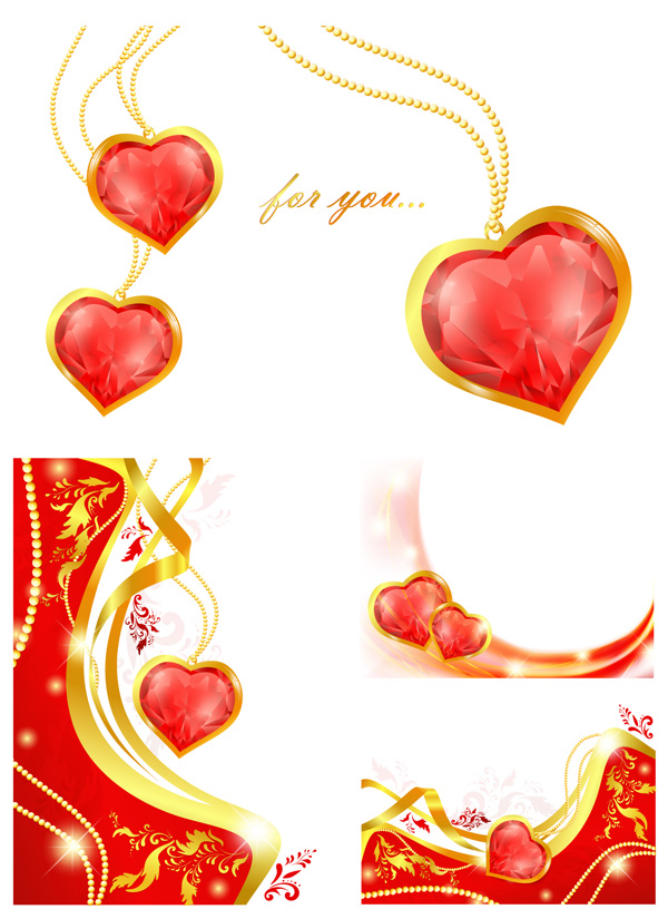 Heart-shaped Pendant Vector Heart-shaped Vector - Download free ...