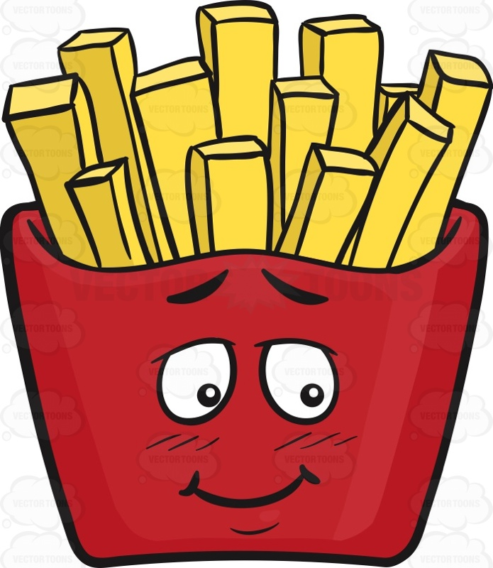 Bashful Red Pack Of French Fries Emoji | Stock Cartoon Graphics ...