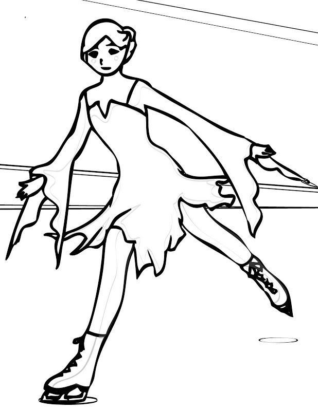 Coloring Pages Of Ice Skaters