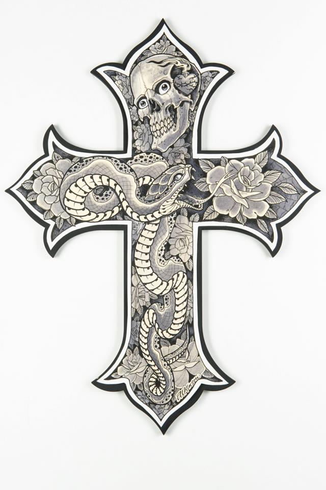 Heart With Cross Inside Tattoo