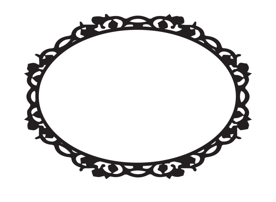 Fancy frame clip art for Fancy oval mirror
