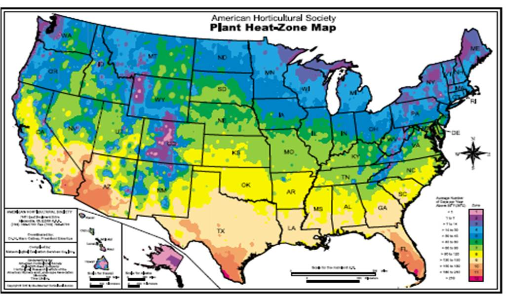 Temperate climate permaculture hardiness zones heat for Gardening zones colorado