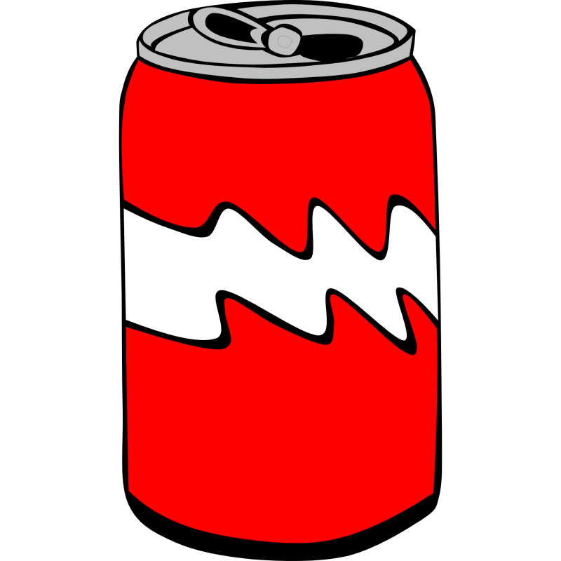 Clipart - Fast Food, Drinks, Soda, Can