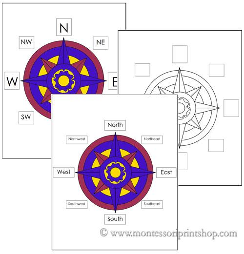 compass printable. Black Bedroom Furniture Sets. Home Design Ideas
