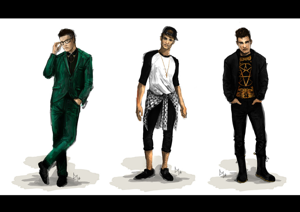 Fashion Illustrations Men - Gallery
