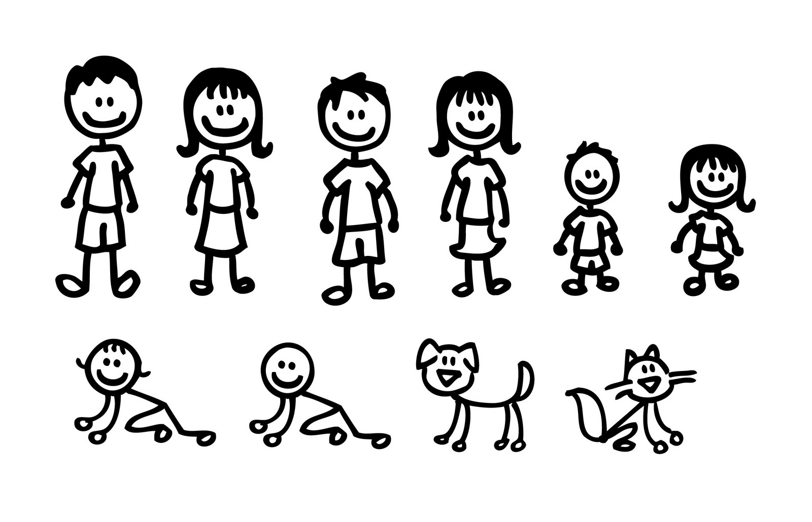 Family Clipart 5 People Cliparts Co