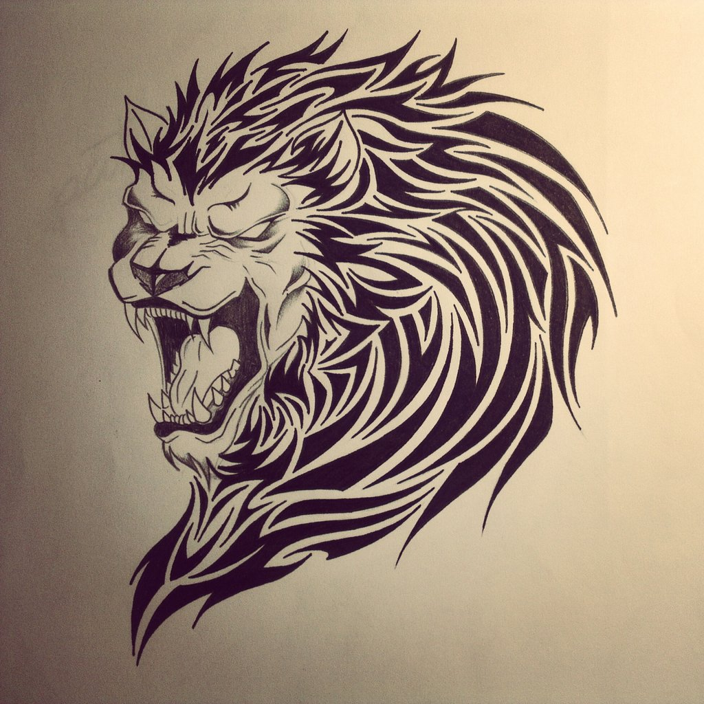 f871888857f1d Lion Tribal Tattoo By Dirtfinger-d5w6o00 By Salesas1 On DeviantArt ...