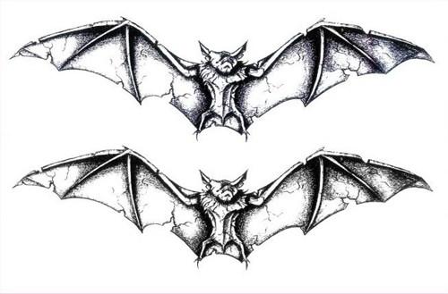 Creative Jean Style Black Bat Tattoo