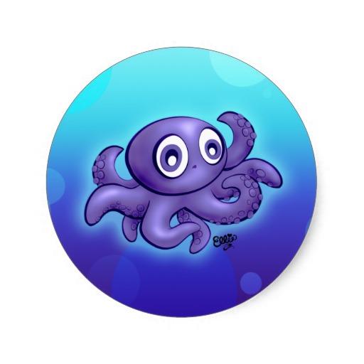 Blue octopus cartoon for Baby octopus cartoon