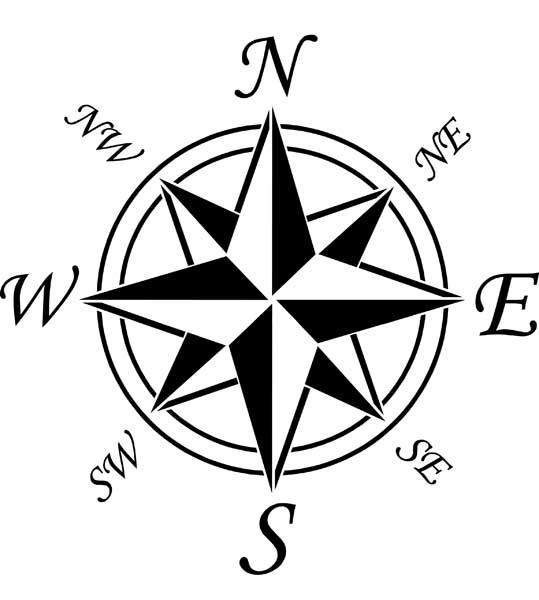 Declarative image with picture of a compass rose printable