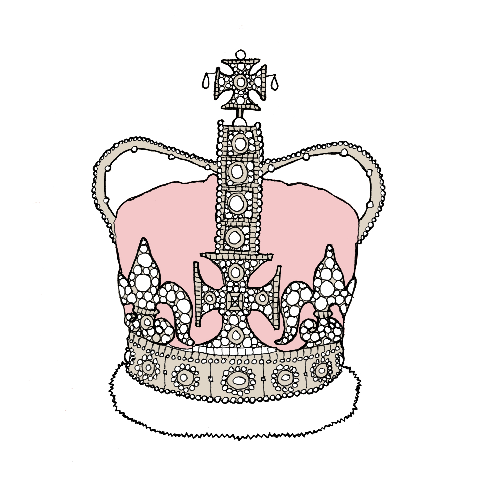 Line Art Crown : Crown line drawing cliparts