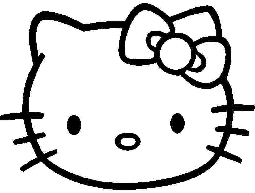 Cartoon Hello Kitty Coloring Sheets Free Printable For Girls Boys
