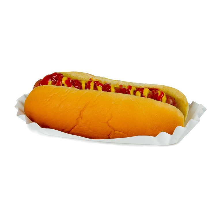 """Heavy Weight 6"""" White Paper Fluted Hot Dog Tray 500 / Pack ..."""