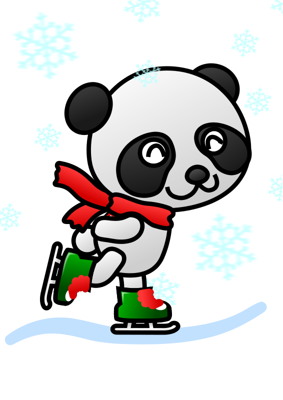 clipart panda winter - photo #19