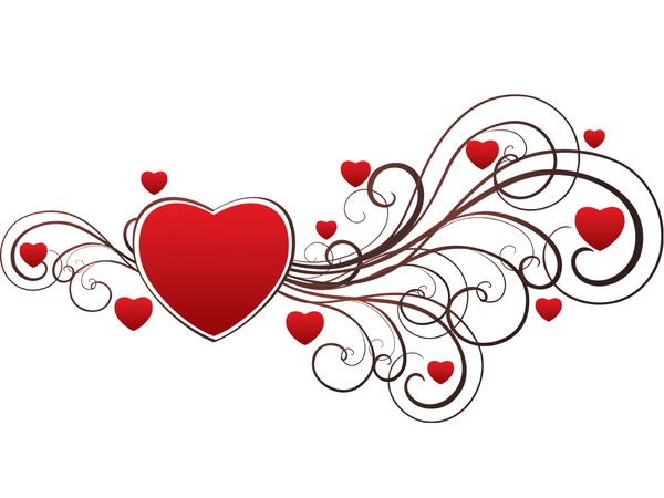 Valentine Heart Swirls - Heart Vector Graphics Art - Free ...