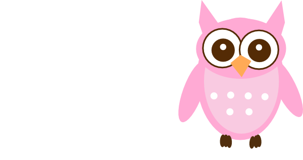 Cute Pink Owl clip art - vector clip art online, royalty free ...