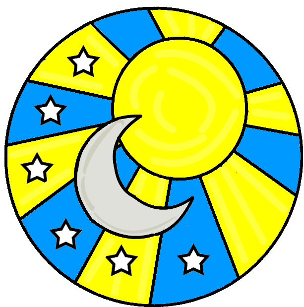 free clip art moon and stars - photo #36