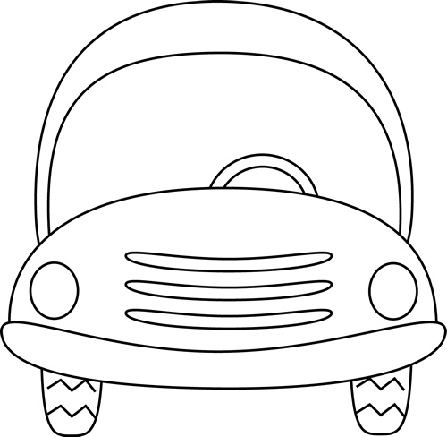 free clipart black and white car - photo #25