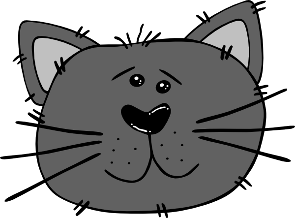Cartoon Cat Face clip art - vector clip art online, royalty free ...