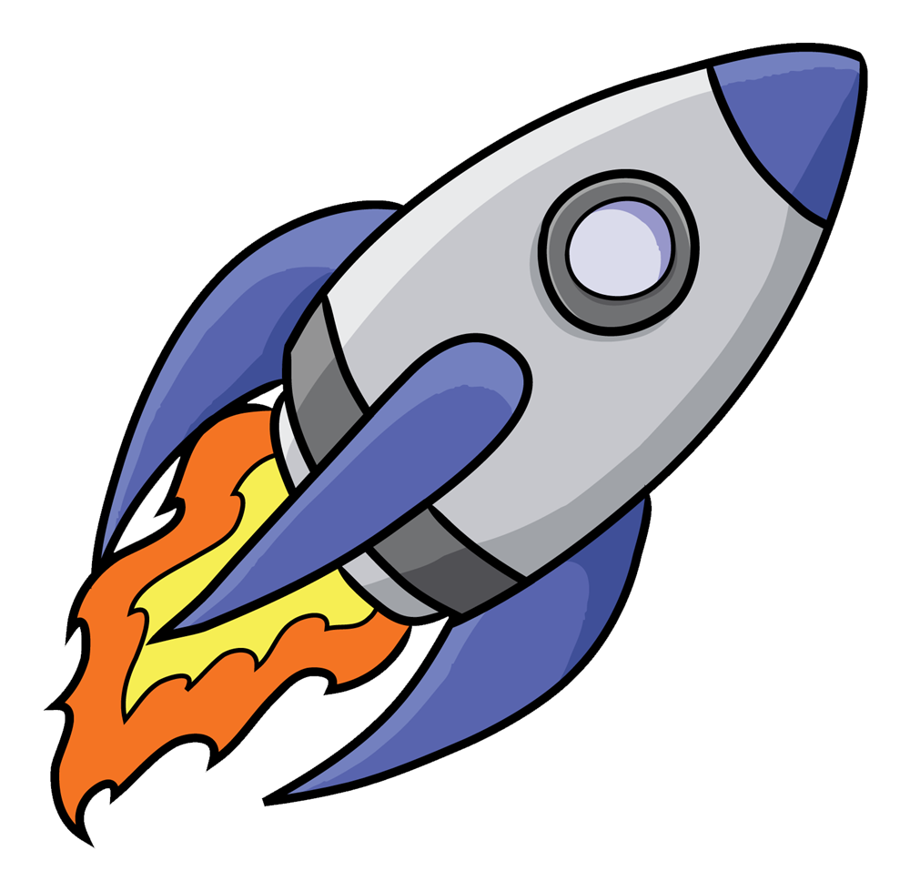 cartoon rocket images clipartsco