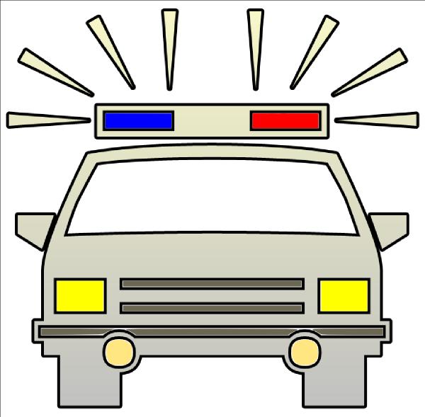 Police Car Cutout clip art - vector clip art online, royalty free ...