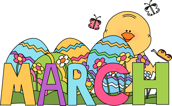 Month of March Easter Clip Art - Month of March Easter Image