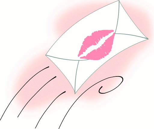 free animated kisses clipart - photo #5