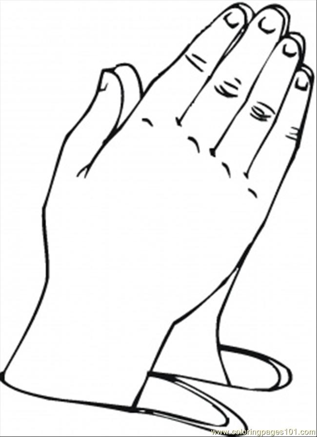 Praying Hand Colouring Pages