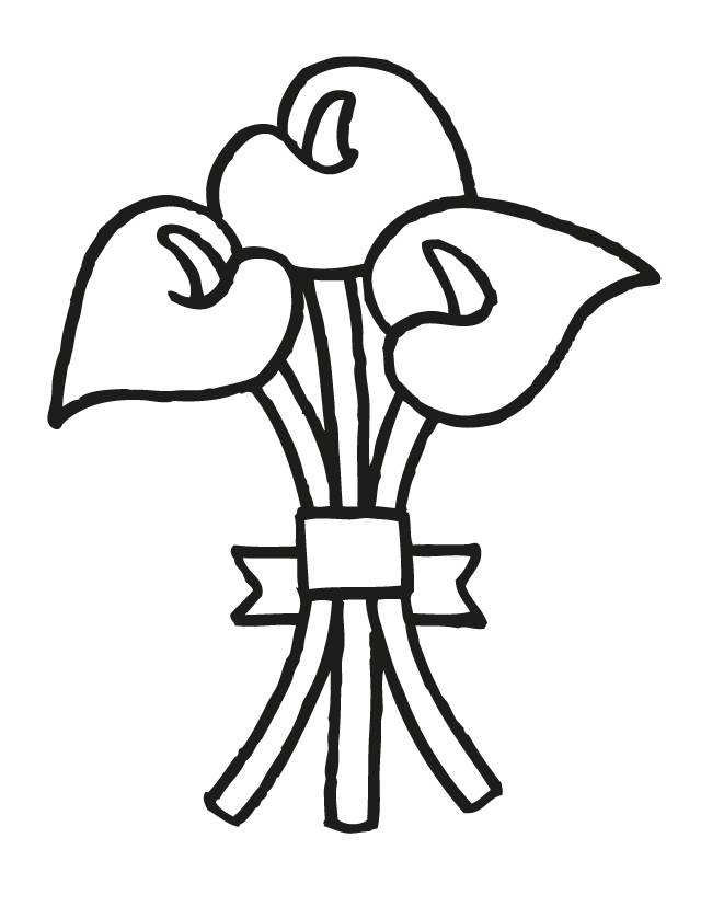 Wedding Bouquet - Free Printable Coloring Pages Wedding Bouquet Coloring Pages