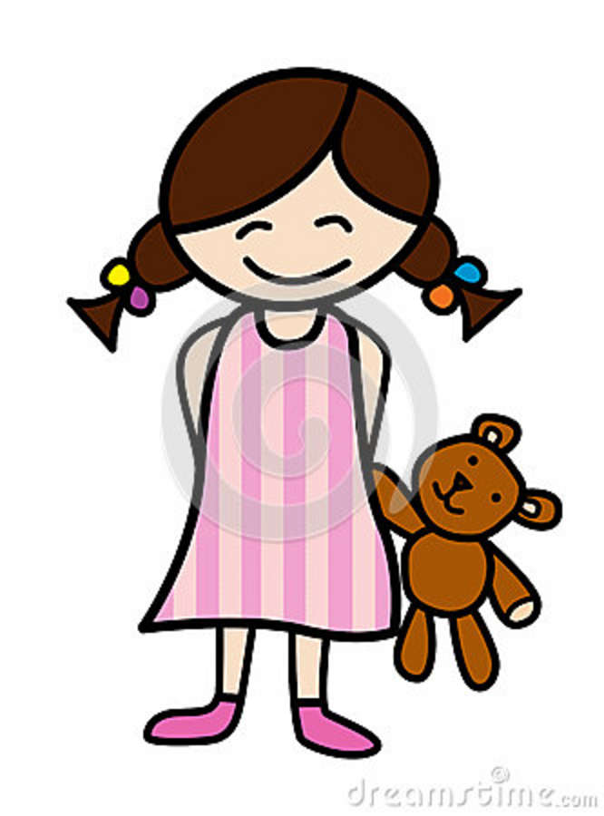 girl putting on pajamas | Clipart Panda - Free Clipart Images