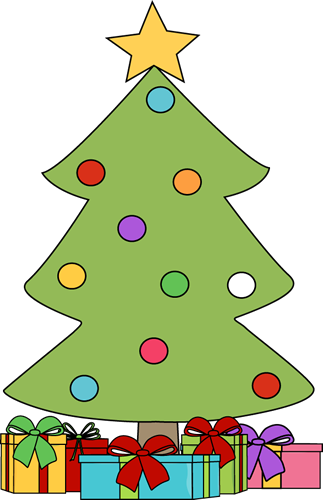 Christmas Tree with Gifts Clip Art - Christmas Tree with Gifts Image