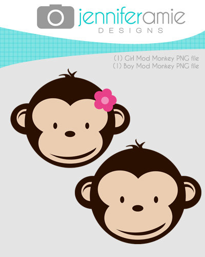 Baby Shower Wiki: Monkey Boy Baby Shower Clip Art