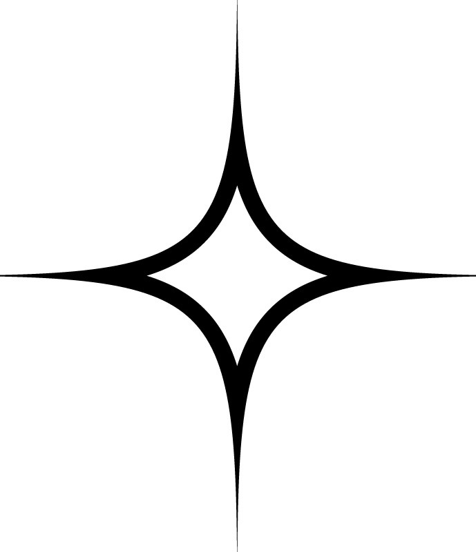 Star Outline Outline Four Pointed Star