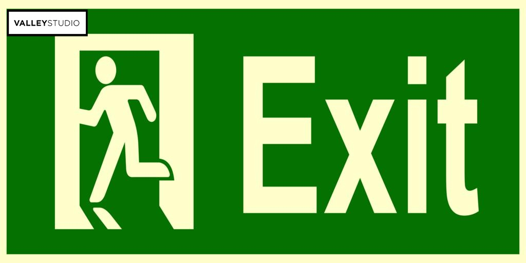 Emergency exit door signs