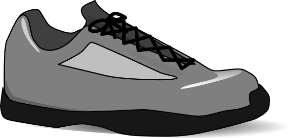 running shoes clip art