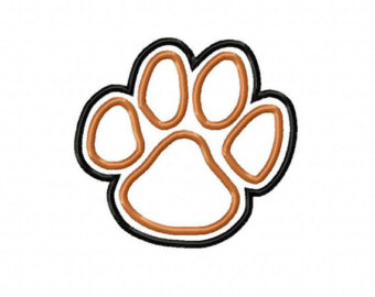 Popular items for tiger paw print on Etsy