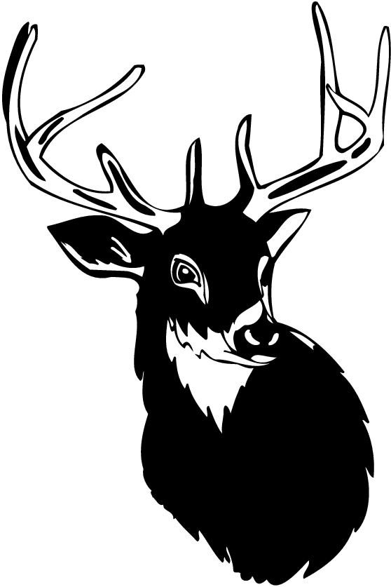 free deer head silhouette clip art - photo #23