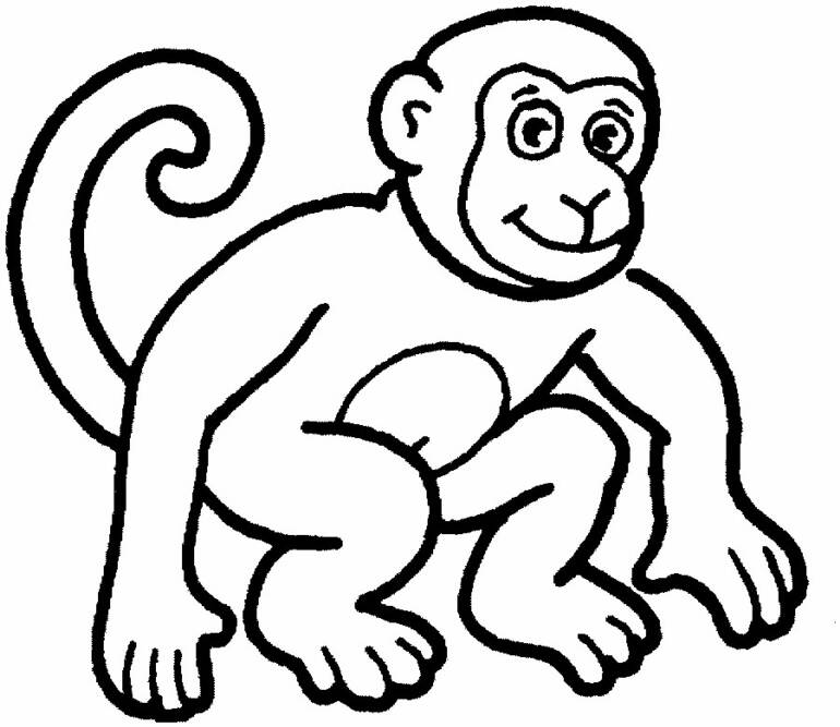 cartoon monkey coloring pages - cartoon pictures of monkeys for kids