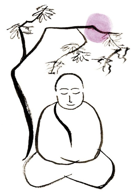 Zen Line Art : Simple buddha drawing cliparts