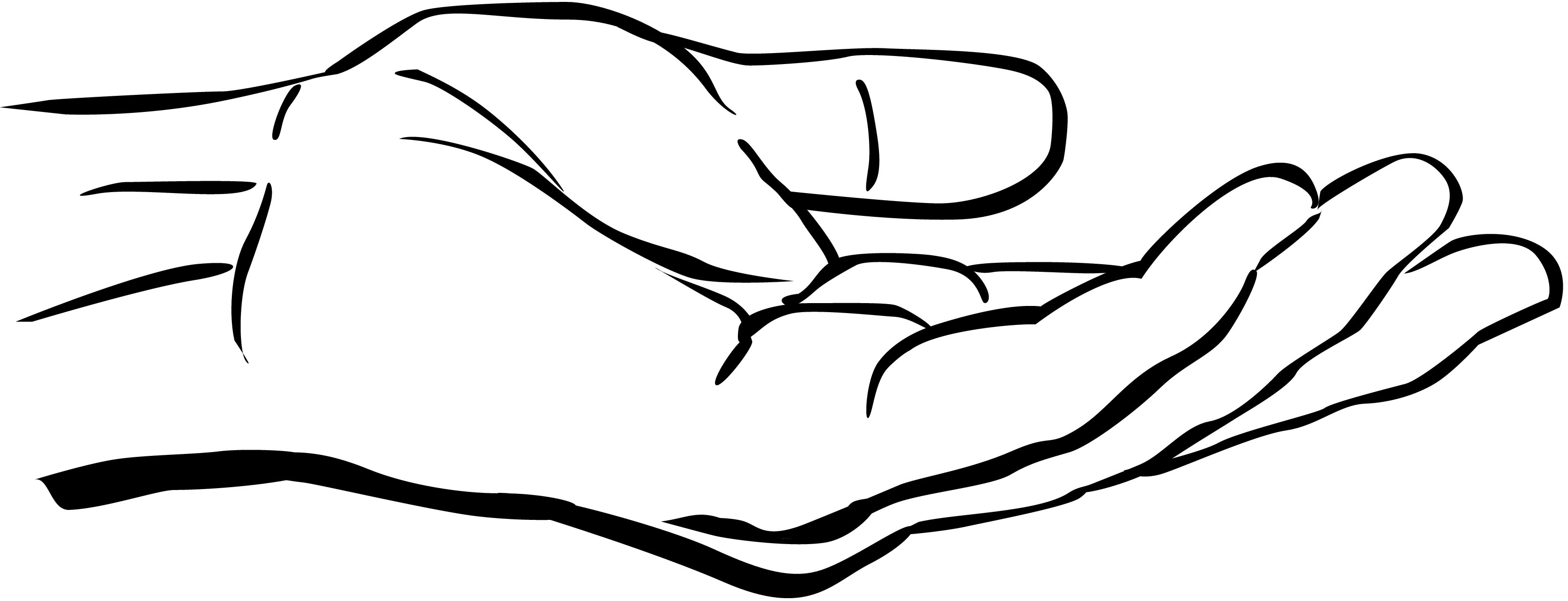 Reaching Hands Clip Art